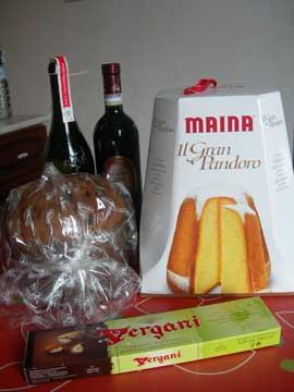 パネットーネとワイン